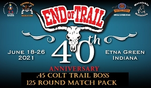 EOT PRE-ORDER .45 Colt Trail Boss- 125 Round Match Pack